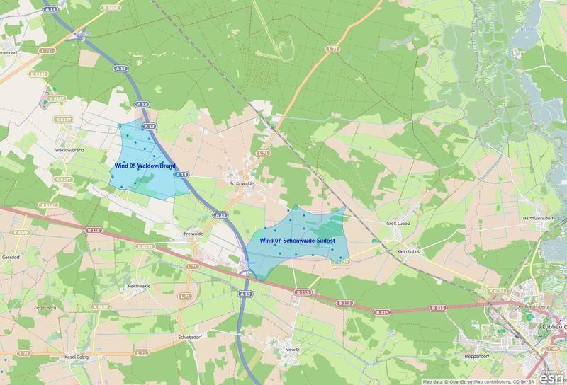 """Interaktive Karte zum Sachlichen Teilregionalplan """"Windenergienutzung"""""""